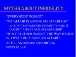 myths about infidelity