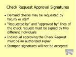 check request approval signatures