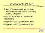 consultants s req