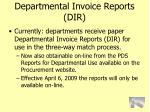 departmental invoice reports dir