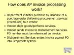 how does ap invoice processing work