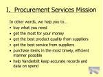 i procurement services mission5