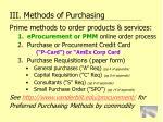 iii methods of purchasing