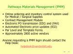 pathways materials management pmm