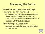processing the forms73