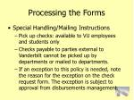 processing the forms83