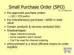 small purchase order spo