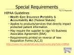 special requirements28