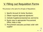 v filling out requisition forms