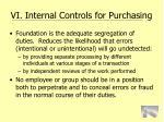 vi internal controls for purchasing