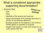 what is considered appropriate supporting documentation