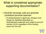 what is considered appropriate supporting documentation75