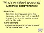 what is considered appropriate supporting documentation76