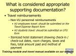 what is considered appropriate supporting documentation77