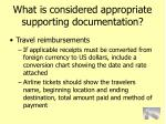 what is considered appropriate supporting documentation78