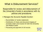 what is disbursement services