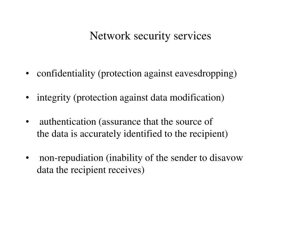 Network security services