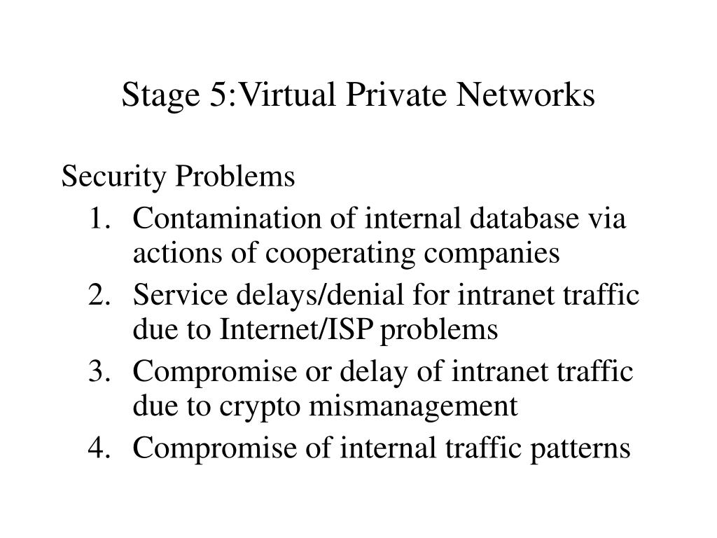 Stage 5:Virtual Private Networks