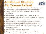 additional student aid issues raised