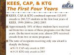 kees cap ktg the first four years