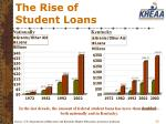 the rise of student loans