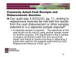commonly asked cash receipts and disbursements question