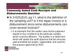 commonly asked cash receipts and disbursements question49