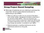 group project based sampling20