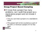 group project based sampling21