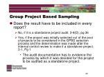 group project based sampling22