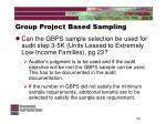 group project based sampling24