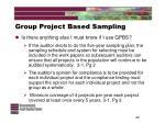 group project based sampling25
