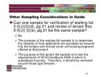 other sampling considerations in guide32