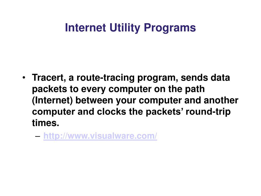 Internet Utility Programs