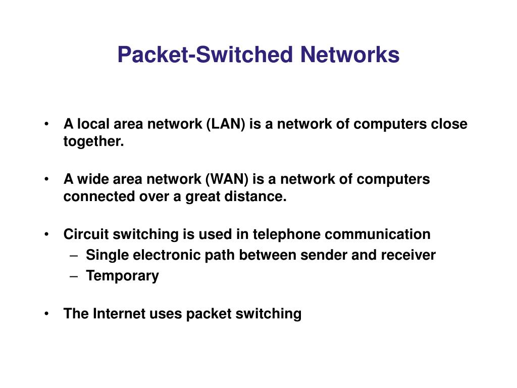 Packet-Switched Networks