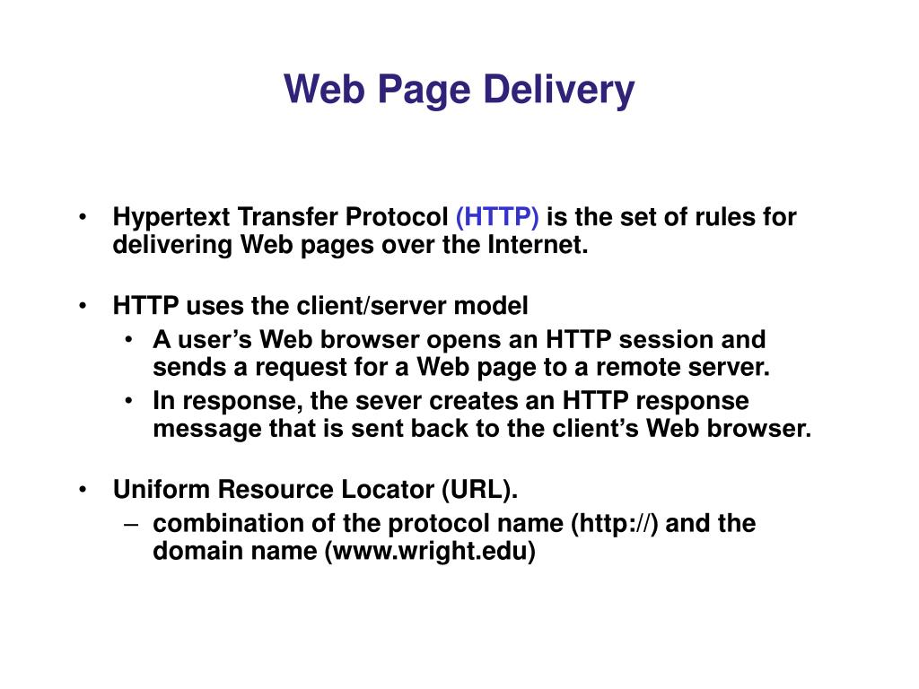 Web Page Delivery