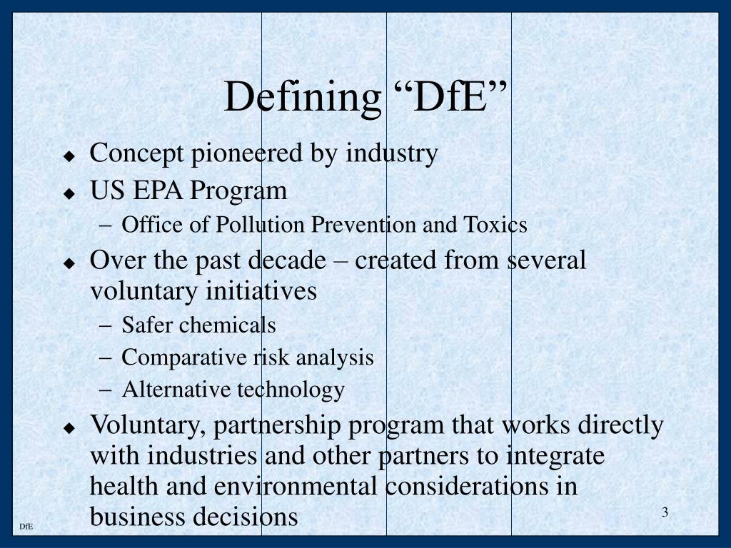 """Defining """"DfE"""""""