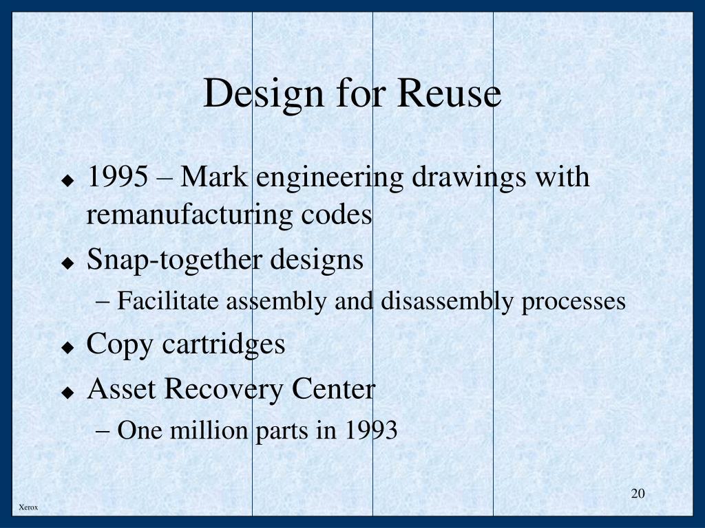 Design for Reuse
