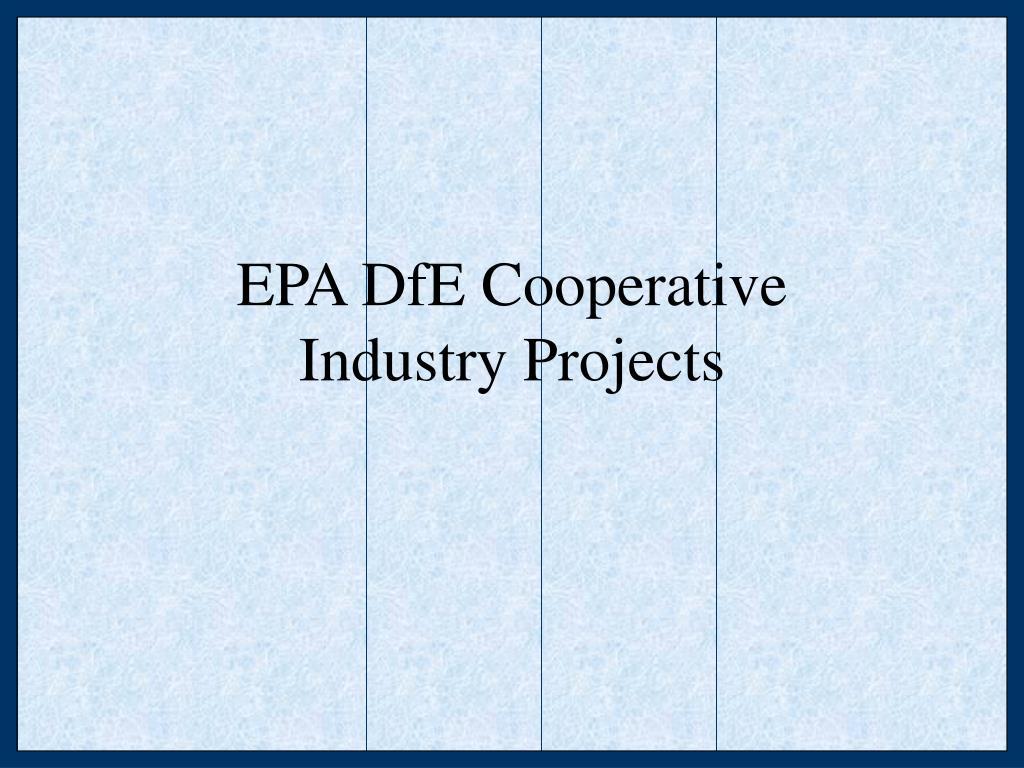 EPA DfE Cooperative