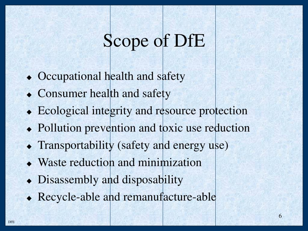 Scope of DfE