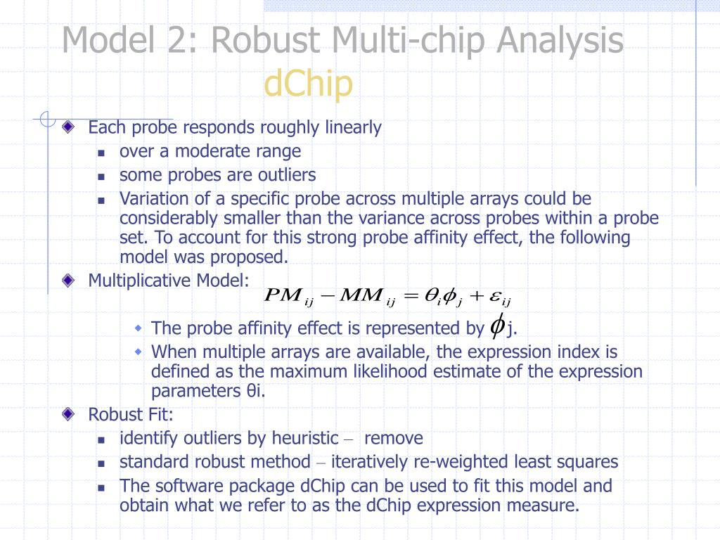 Model 2: Robust Multi-chip Analysis