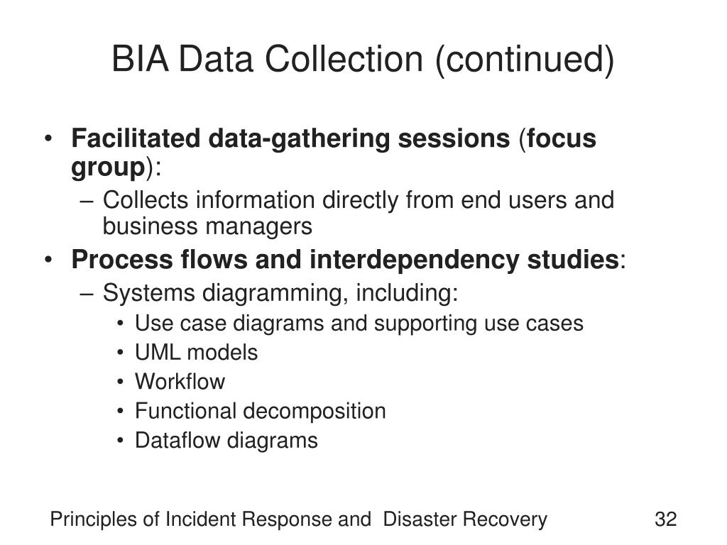 BIA Data Collection (continued)