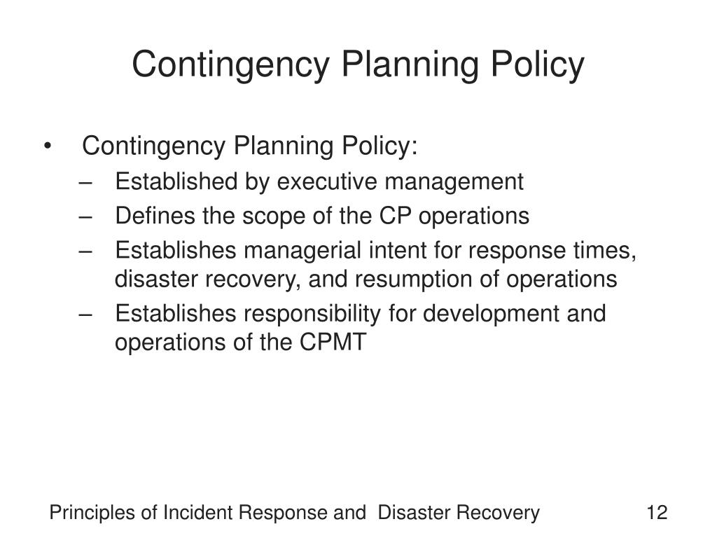 Contingency Planning Policy