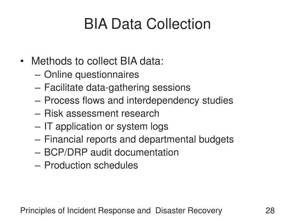 BIA Data Collection