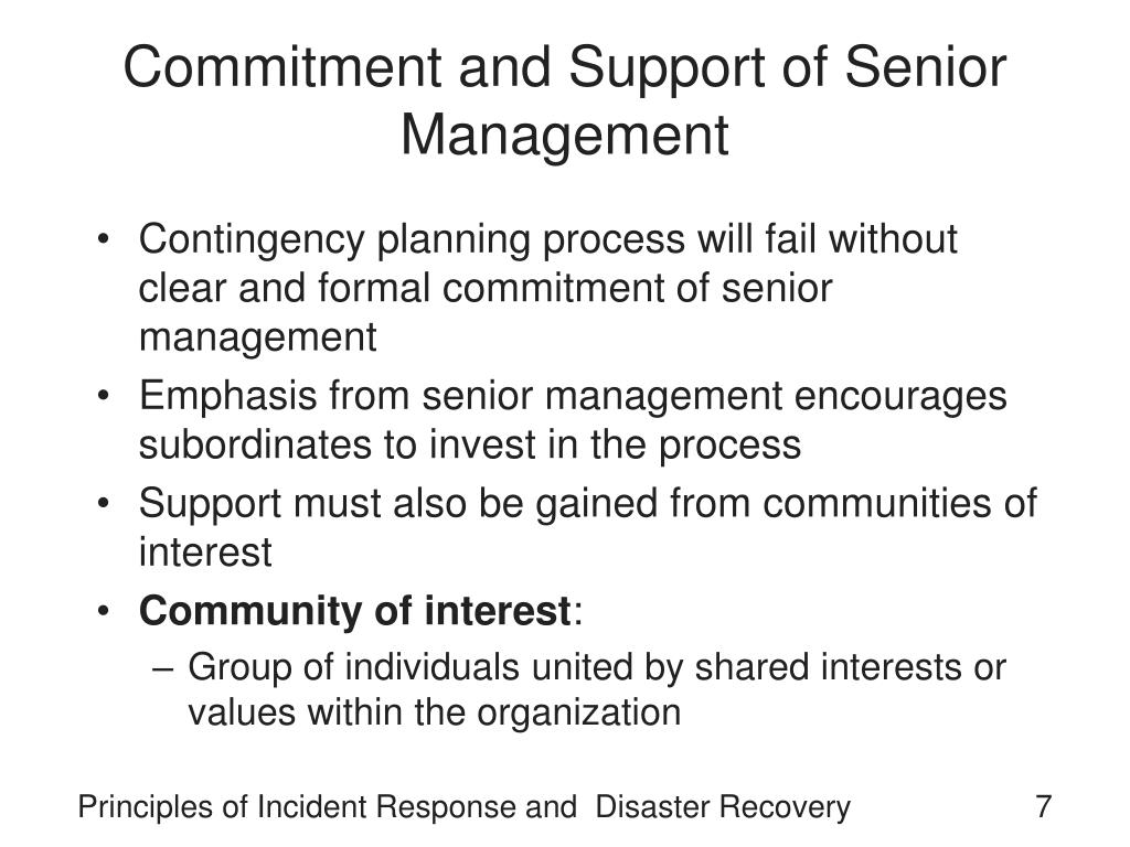 Commitment and Support of Senior Management