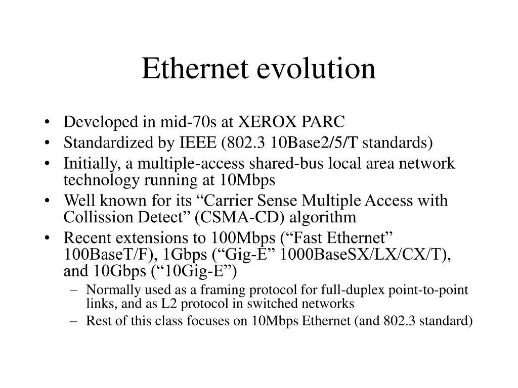 Ethernet evolution