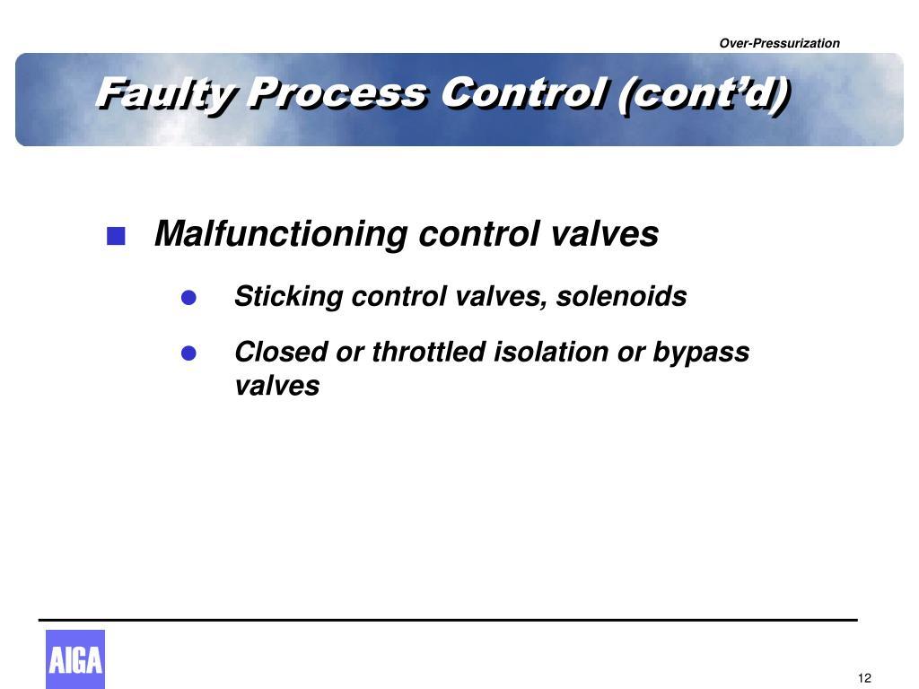 Faulty Process Control (cont'd)