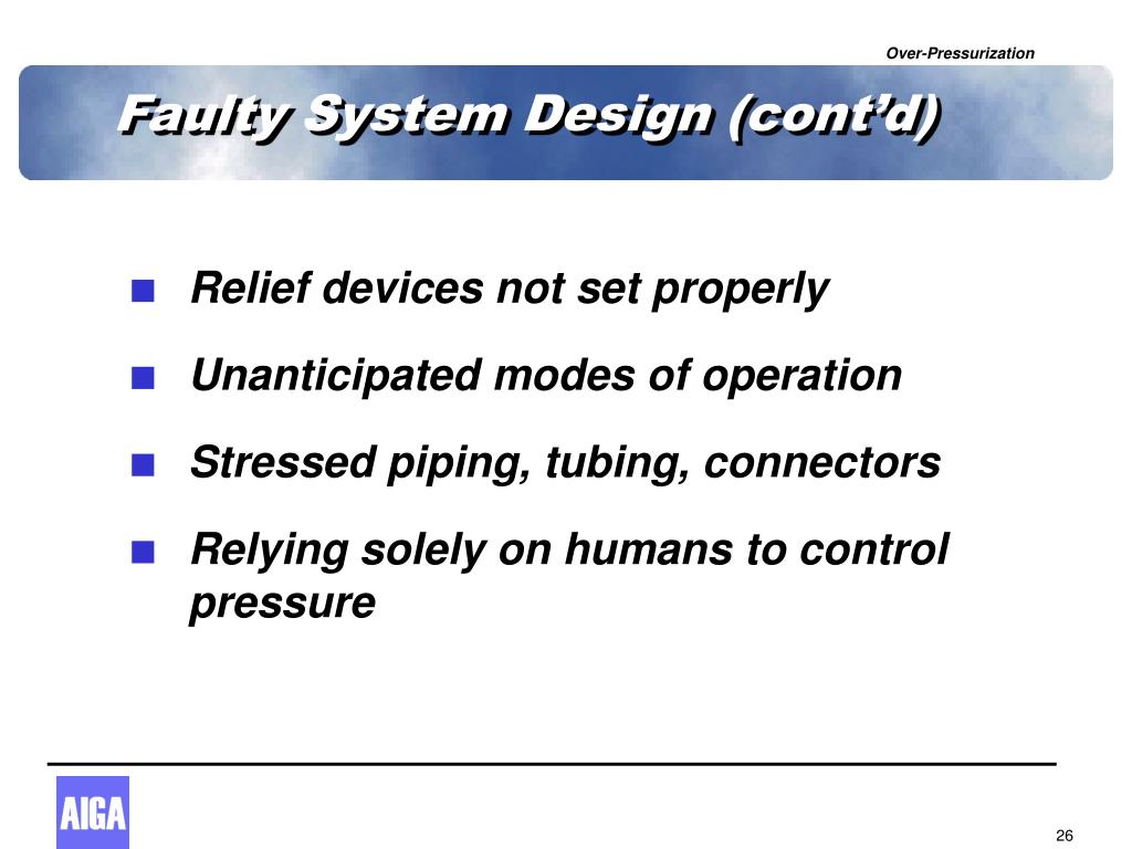 Faulty System Design (cont'd)