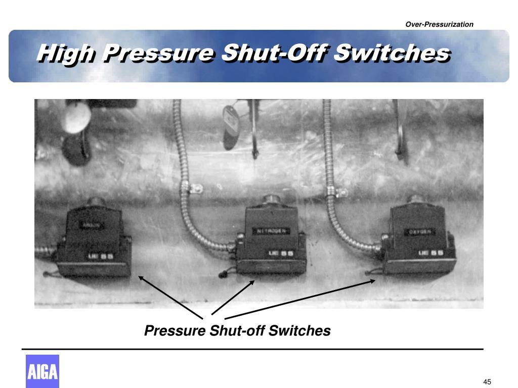 High Pressure Shut-Off Switches