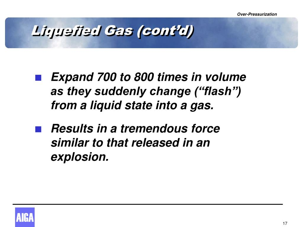 Liquefied Gas (cont'd)